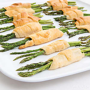 Asparagus Croissants Appetizer Idea