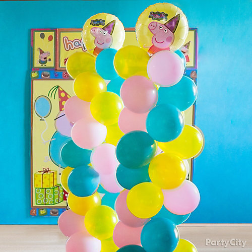 Peppa Pig Balloon Tower DIY
