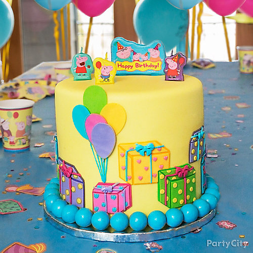 Peppa Pig Cake How-To