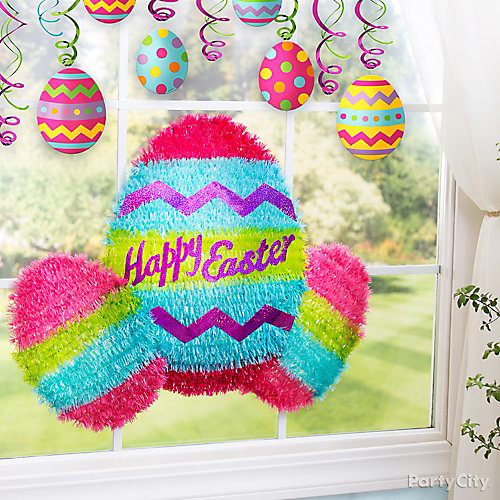 Easter window decorating idea party city - Window decorations for spring ...