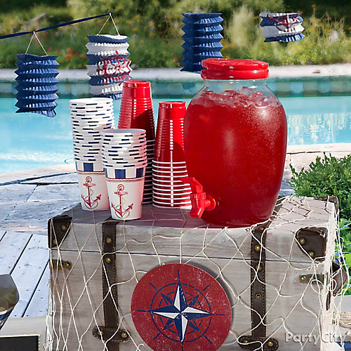 Nautical Drink Station Idea