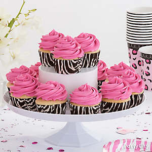 ... Girl Baby Shower Cutlery Idea, Pink Safari Cupcake Idea