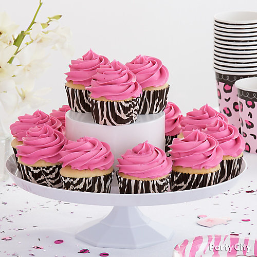 Pink Safari Cupcake Idea