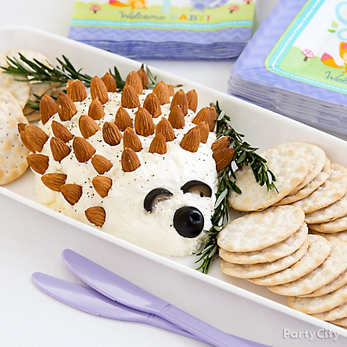Hedgehog Cheese and Crackers Idea
