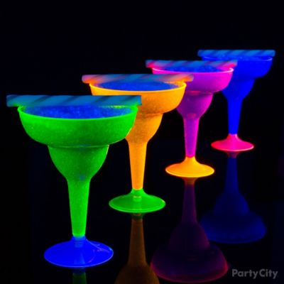 Black Light Blue Margaritas Idea