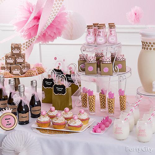 Princess Baby Shower Favor Table Idea
