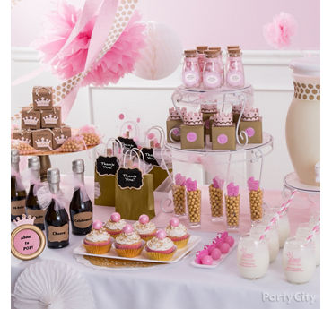 Princess Baby Shower Favor Table Idea