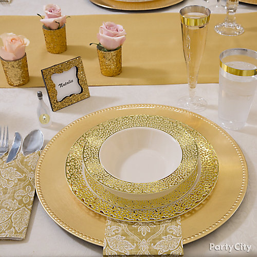 Golden Place Setting Idea