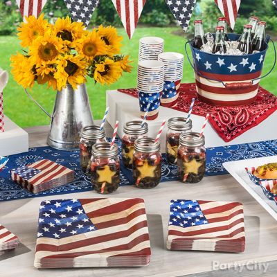 Star Spangled Mason Jar Drink Idea