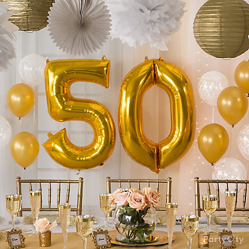 50 Number Balloons Idea