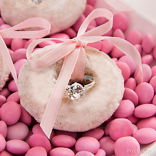 Bridal Shower Bling Donut Idea