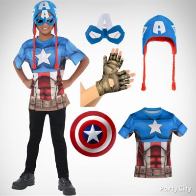 Boys Captain America Costume Idea