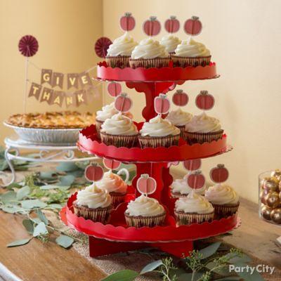 Pumpkin Cupcake Tower Idea How To