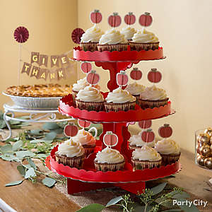 Pumpkin Cupcake Tower Idea How To