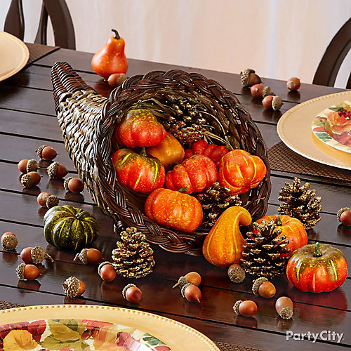 Rustic cornucopia idea party city