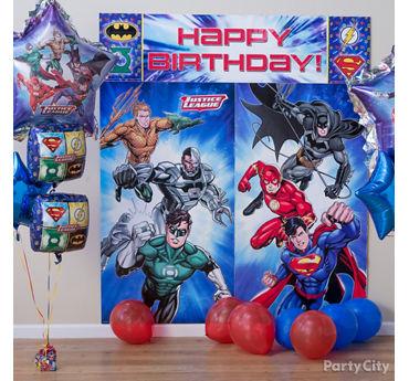 Justice League Scene Setter Decorating Idea