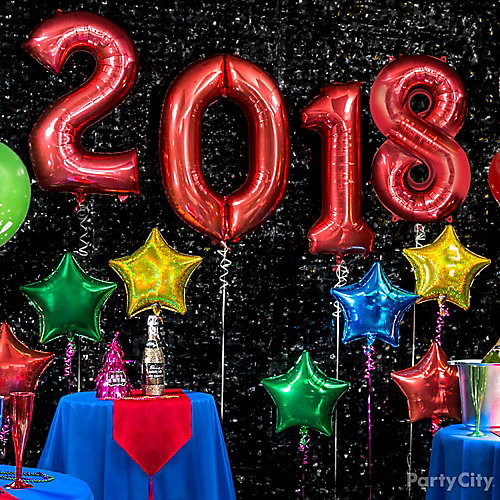 Colorful Year in Balloons Idea