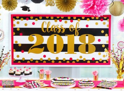 Gold Confetti Grad Party Ideas