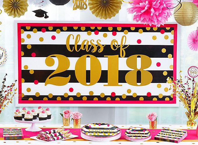 Gold Confetti Grad Party Ideas
