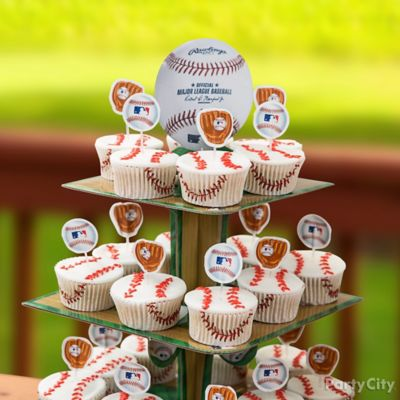 Slugger Cupcake Tower Idea