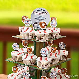 Slugger Cupcake Tower Idea