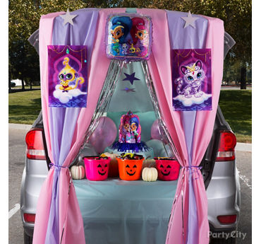 Shimmer and Shine Trunk or Treat Idea