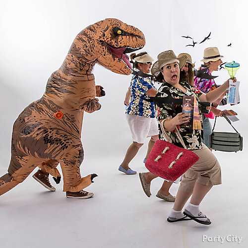 T Rex Attack Group Costume Idea