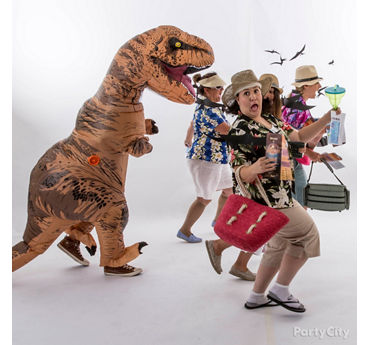 T Rex Attack Group Costume Idea