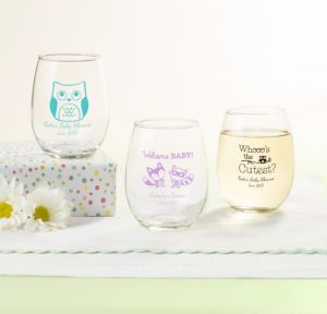 Personalized Stemless Wine Glasses, 9oz
