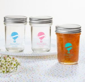 Up Up Away Personalized Baby Shower Mason Jars (Printed Glass)