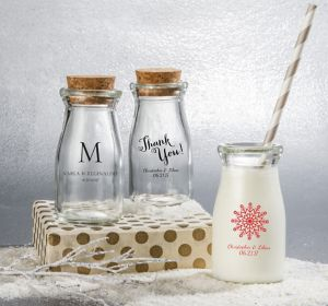Personalized Glass Milk Bottles <br>(Printed Glass)