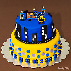 Batman Gotham Skyline Cake