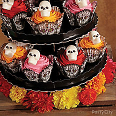 Day of the Dead Candy Skull Cupcake Tower