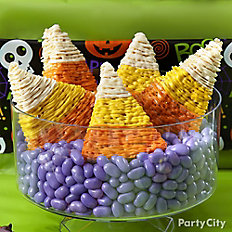 Friendly Candy Corn Crispy Rice Treat