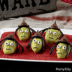 Scary Witch Covered Strawberries