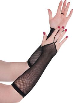 Black Fishnet Arm Warmers