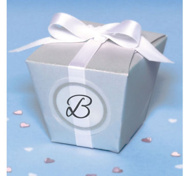 Silver Elegant Box Wedding Favor Kit