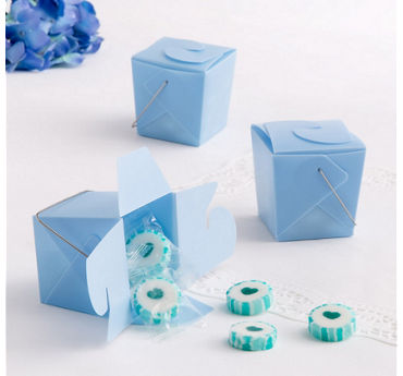 Blue Take-Out Style Favor Boxes 12ct
