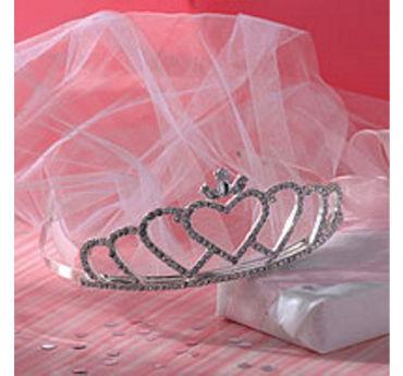 Rhinestone Wedding Tiara with Veil