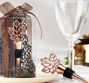 Copper Leaf Wine Stopper