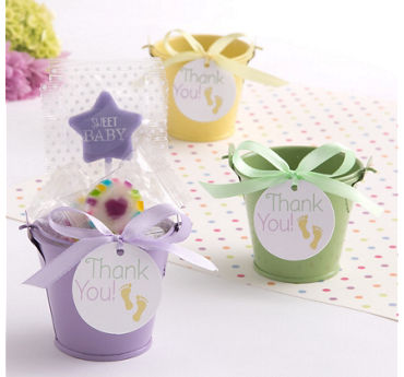 Pastel Baby Shower Mini Pail Favor Kit 18ct