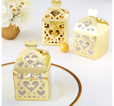 Gold Lantern Favor Boxes