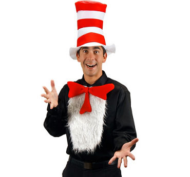 Adult Cat in the Hat Insta-Tux Accessory Kit - Dr. Seuss