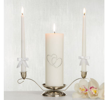 quick shop white hearts unity candle