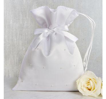 White Pearl Wedding Money Bag