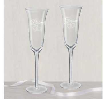 Bride & Groom Wedding Toasting Glasses 2ct