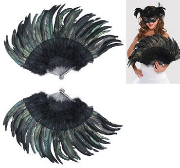 Black Fantasy Feather Fan & Tail