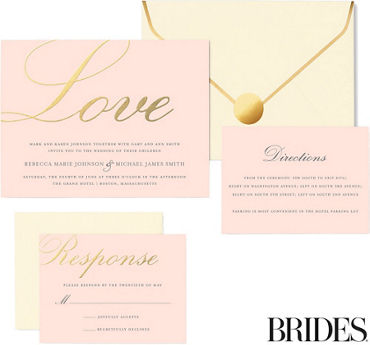 Metallic Gold Love Printable Wedding Invitations Kit 30ct