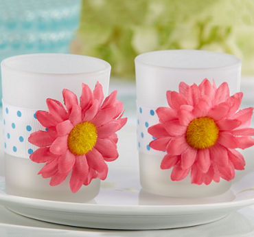 Pink Daisy Tealight Candle Holders