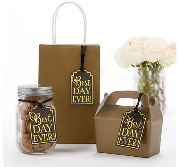 Black Best Day Ever Favor Tags 25ct